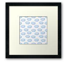 Cute clouds seamless pattern Framed Print