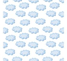 Cute clouds seamless pattern Photographic Print