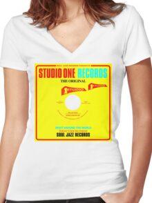 Studio One Original Women's Fitted V-Neck T-Shirt