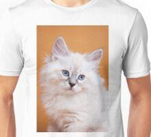 Lovely fluffy kitten charming Siberian cat Unisex T-Shirt