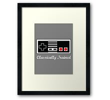 Classically Trained in the Art of NES Framed Print