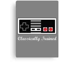 Classically Trained in the Art of NES Canvas Print