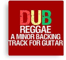 Dub Reggae Canvas Print
