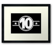 Ten Stars Framed Print