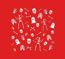 Skeleton Dance in Red Unisex T-Shirt