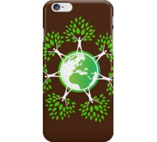 Earth Day Tree People (2c) iPhone Case/Skin