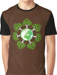 Earth Day Tree People (2c) Graphic T-Shirt