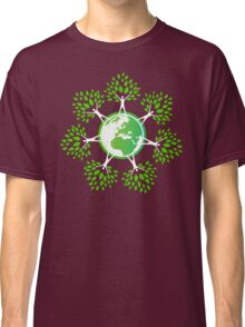 Earth Day Tree People (2c) Classic T-Shirt