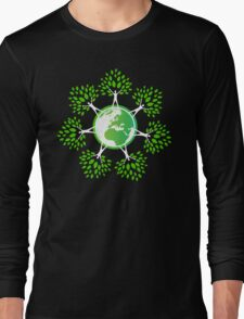 Earth Day Tree People (2c) Long Sleeve T-Shirt