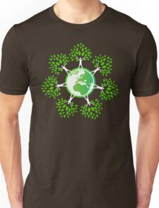 Earth Day Tree People (2c) Unisex T-Shirt