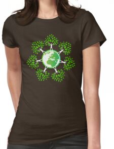 Earth Day Tree People (2c) Womens Fitted T-Shirt