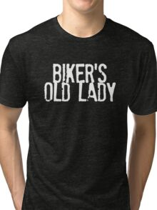 Biker's Old Lady Logo Tri-blend T-Shirt