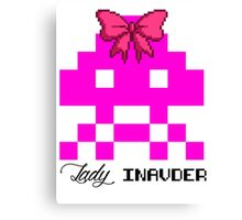Lady Invader Canvas Print