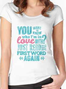 You want to know who I'm in love with? Women's Fitted Scoop T-Shirt
