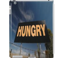 Hungry Sign,Olympic Highway,Australia iPad Case/Skin