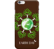 Earth Day Tree People iPhone Case/Skin