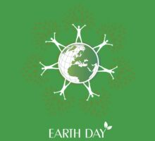 Earth Day Tree People Baby Tee