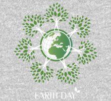 Earth Day Tree People One Piece - Long Sleeve