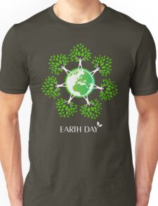 Earth Day Tree People Unisex T-Shirt