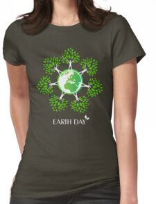Earth Day Tree People Womens Fitted T-Shirt