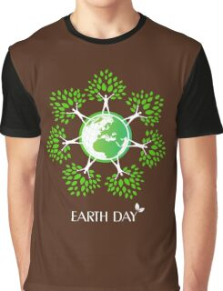 Earth Day Tree People Graphic T-Shirt