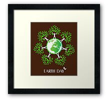 Earth Day Tree People Framed Print