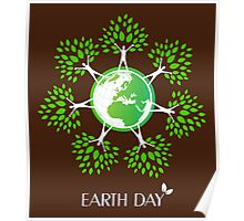 Earth Day Tree People Poster