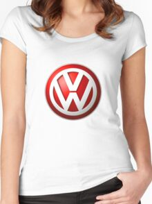 Volkswagen Logo Women's Fitted Scoop T-Shirt
