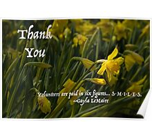 Thank You Daffodil Volunteer Poster