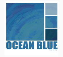 Ocean Blue One Piece - Short Sleeve