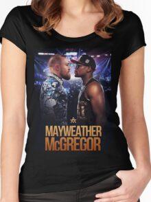 mayweather vs mcgregor Women's Fitted Scoop T-Shirt