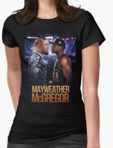 mayweather vs mcgregor Womens Fitted T-Shirt