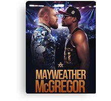 mayweather vs mcgregor Canvas Print