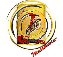 Moto Socochemoto flying biker Photographic Print
