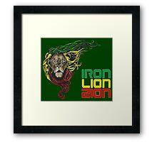 Reggae Rasta Iron, Lion, Zion 3 Framed Print