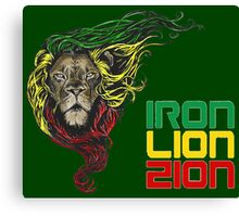 Reggae Rasta Iron, Lion, Zion 3 Canvas Print