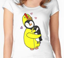 Penguin Hugs Women's Fitted Scoop T-Shirt