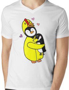 Penguin Hugs Mens V-Neck T-Shirt