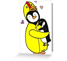 Penguin Hugs Greeting Card