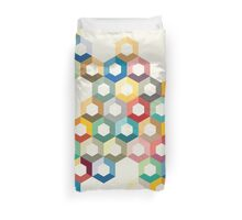 Colourful honeycomb Duvet Cover