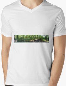 Bluebell Panorama Mens V-Neck T-Shirt