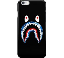 SHARK WITH BLUE CAMO iPhone Case/Skin