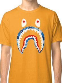 SHARK WITH BLUE CAMO Classic T-Shirt