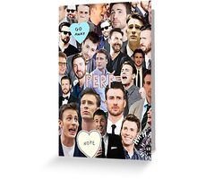 Chris Evans Collage Greeting Card
