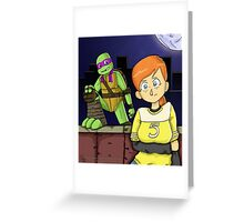 Tmnt- April and Donnie Greeting Card