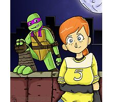 Tmnt- April and Donnie Photographic Print