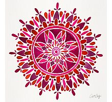 Red Mandala Photographic Print
