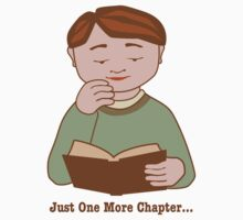 Just One More Chapter Boy Reading Book Kids Tee