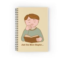 Just One More Chapter Boy Reading Book Spiral Notebook
