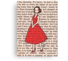 Paris Glamour - Paris, 1954 - Georgette Steps Out In A Daring Red Dress, Saint-Germain-des-Pres Canvas Print